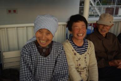 おばちゃんの笑顔