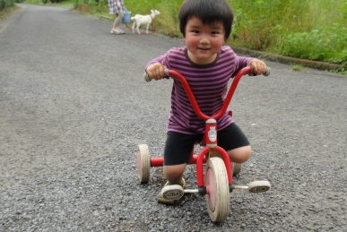 三輪車でおさんぽ