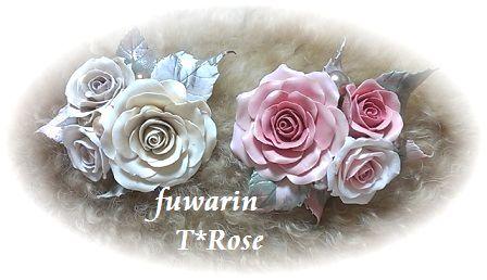薔薇のコサージュ ブローチ