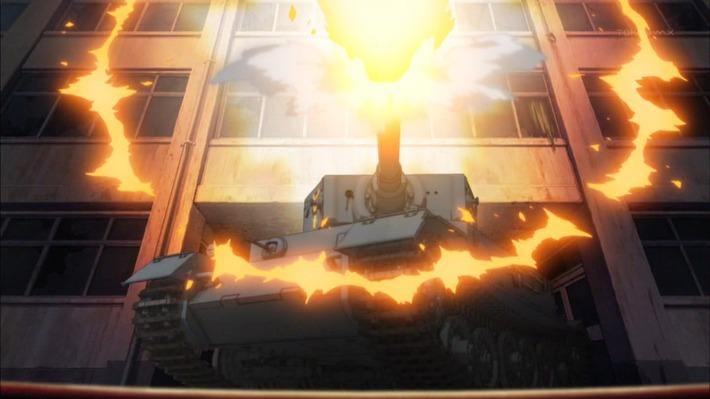 0 戦車 通せんぼ 発砲