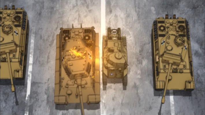 0 戦車 敵の中に
