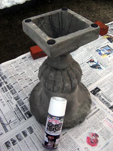 フラワーポットオーナメント塗装前-2