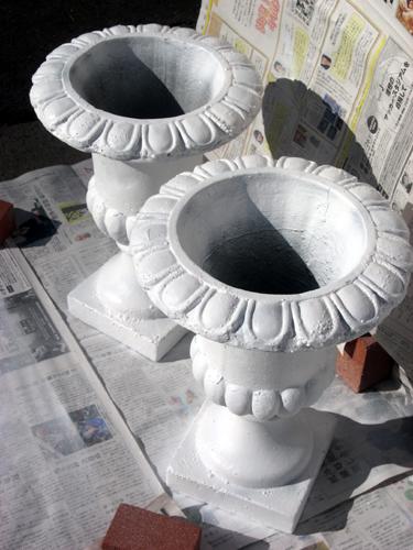 フラワーポットオーナメント塗装後
