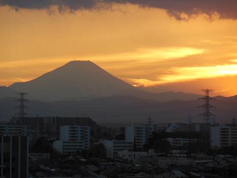 冬の夕焼け富士A