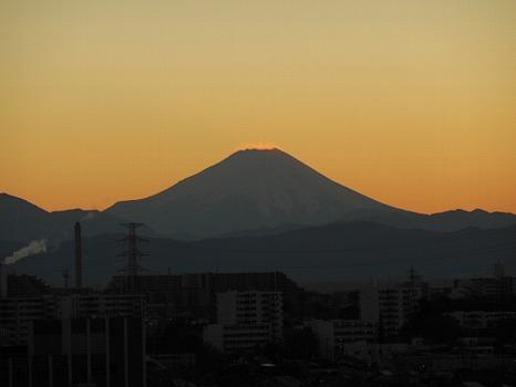 夕焼け富士11月