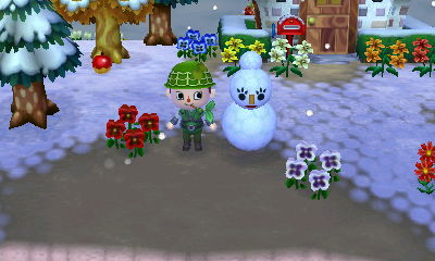 雪ふったねー