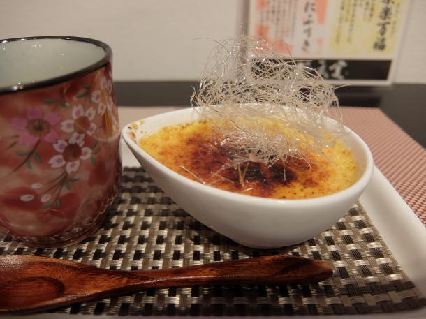 クリームあんぶりゅれと煎茶