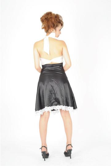 バックサテンクロス ショートドレス