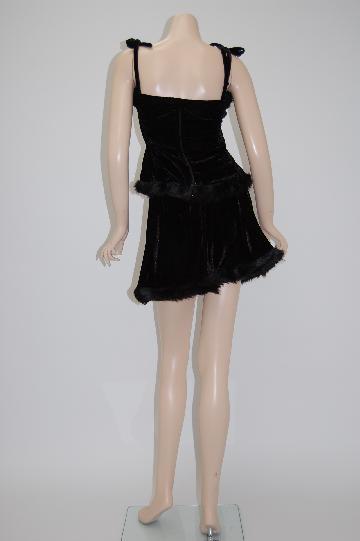 高級ブラック ★ツーピース サンタ ドレス