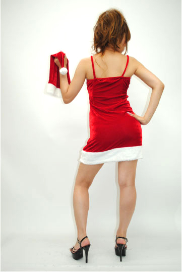 シンプル サンタ ワンピース ドレス シンプル サンタ ワンピース ドレス