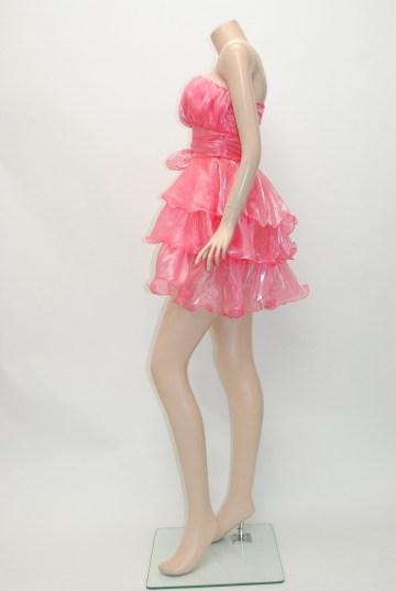 たっぷりオーガンジー ティアードフリル ショートドレス