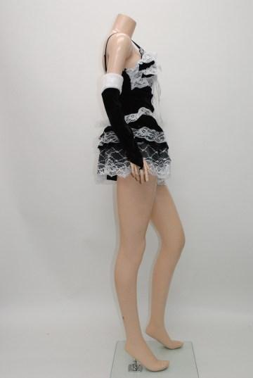 ドレス通販ショップgloss  ふりふりレースティアード サンタドレス