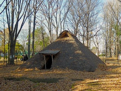 栗原遺跡の竪穴住居跡
