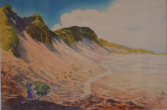 これは白石山とカルデラ