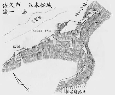 五本松城鳥瞰図2