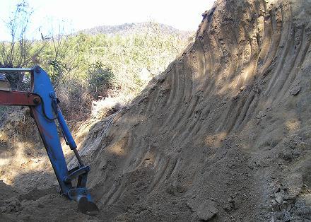 カワセミの崖作り1