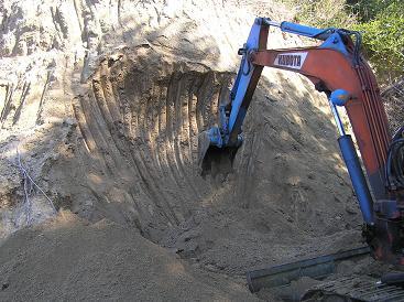 カワセミの崖作り2