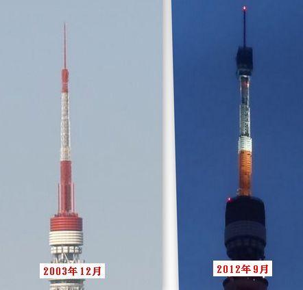 現在のタワーと比較