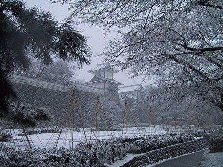 石川門雪景色