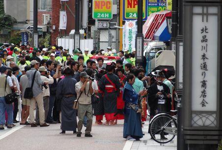 パレードに人が集合