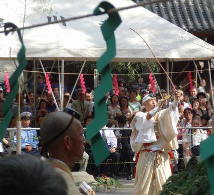 護摩壇の前の儀式