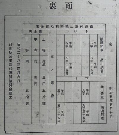 当時の時刻表