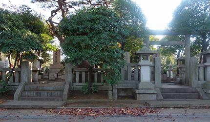 青山霊園で並ぶ墓所