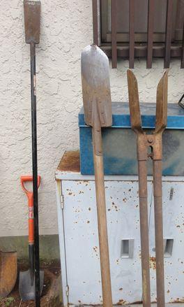 自然薯掘りの道具