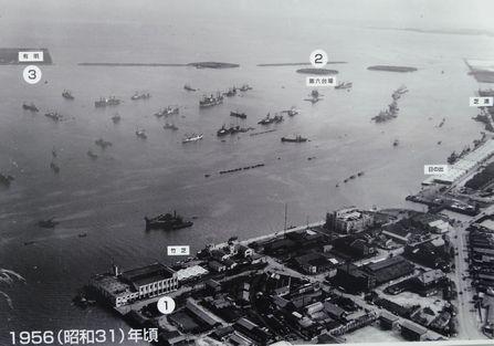 昭和31年の品川沖