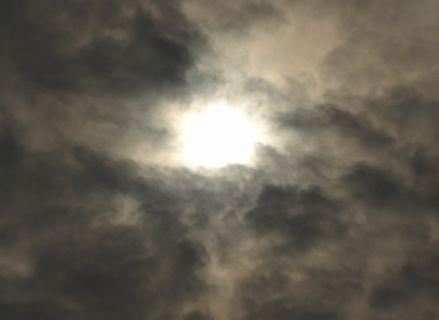 雲が薄くなりすぎた