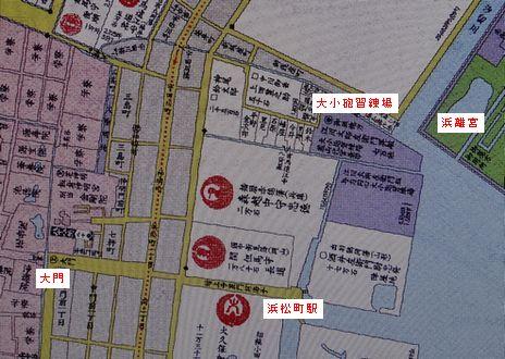 古地図・大砲習練場