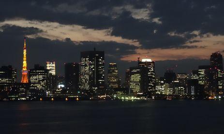 東京港の夕景