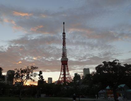 タワー夕焼け