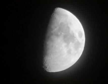 月が見える