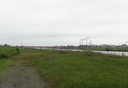 新釧路川河口近く
