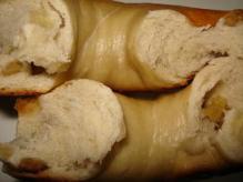 バナナ豆乳断面