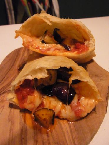 パンツェロッティ・マルゲリータ と茄子