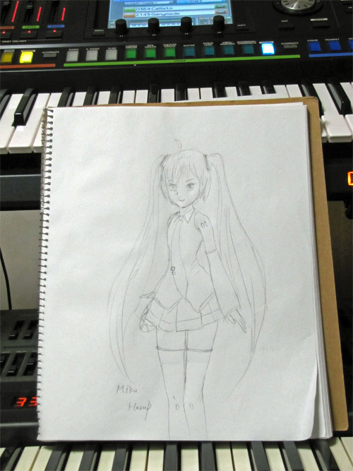 drawing MIKU