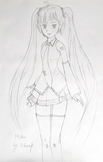 drawing MIKU 3e