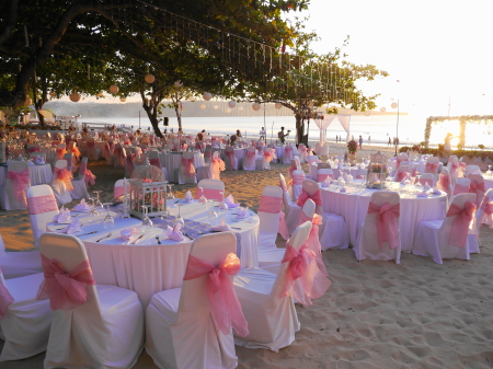 結婚式会場の設定