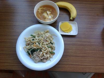 20130226焼うどん&たまごスープ