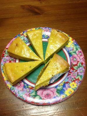 20130215かぼちゃのチーズケーキ