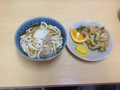 20130327かき揚げ&餅入りうどん