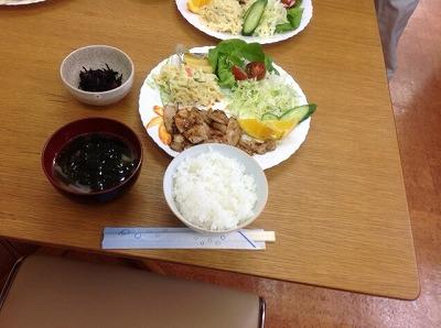 20130513 生姜焼き&マカロニサラダ