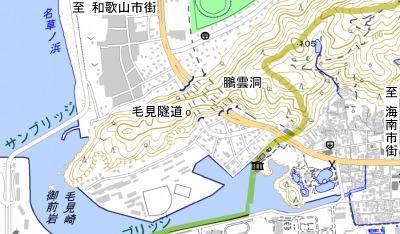 毛見隧道地図