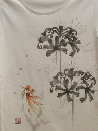 ヒガンバナと金魚 Tシャツ 20128182