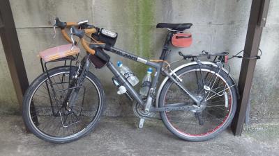 自転車・装備前