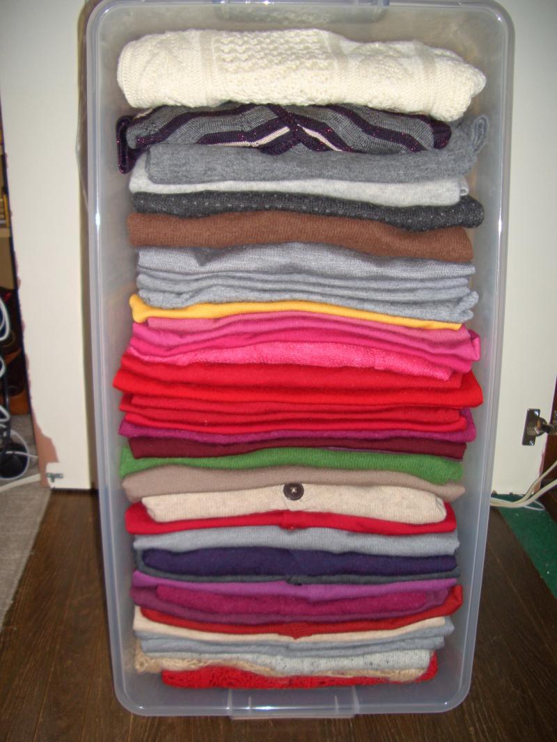 セーターの収納