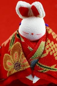 ★200着物を着たウサギ