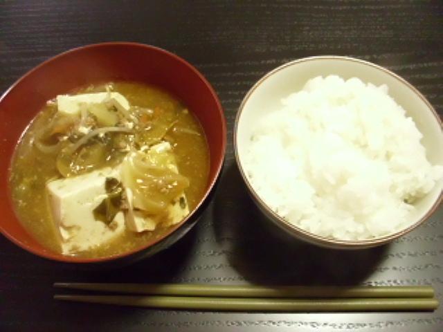 福島産ご飯と麻婆豆腐